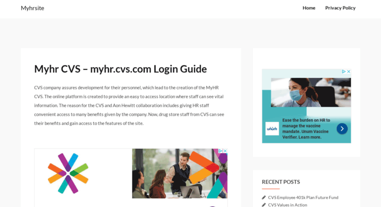 Access myhrsite net  Myhr CVS - myhr cvs com Login Guide