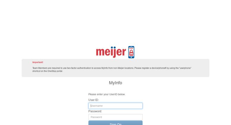 Access myinfo meijer com  MyInfo