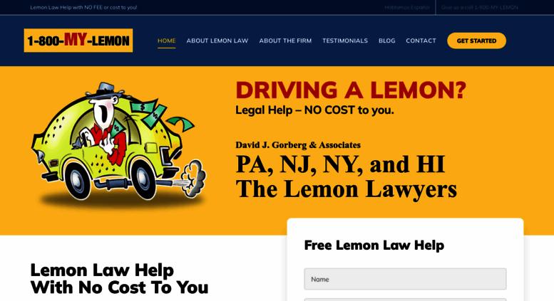Access Mylemon Com Lemon Law Pa Nj Ny