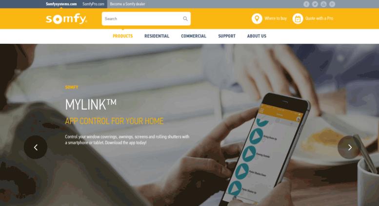 Access mylink somfy com  Somfy's myLink: Home automation for