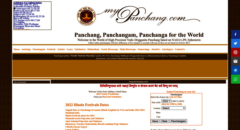 How is Panchang Calculated?