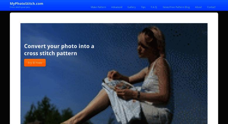 Access myphotostitch com  Free Cross Stitch Pattern Maker