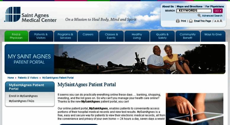 Access Mysaintagnesmycarefileorg Mysaintagnes Patient Portal