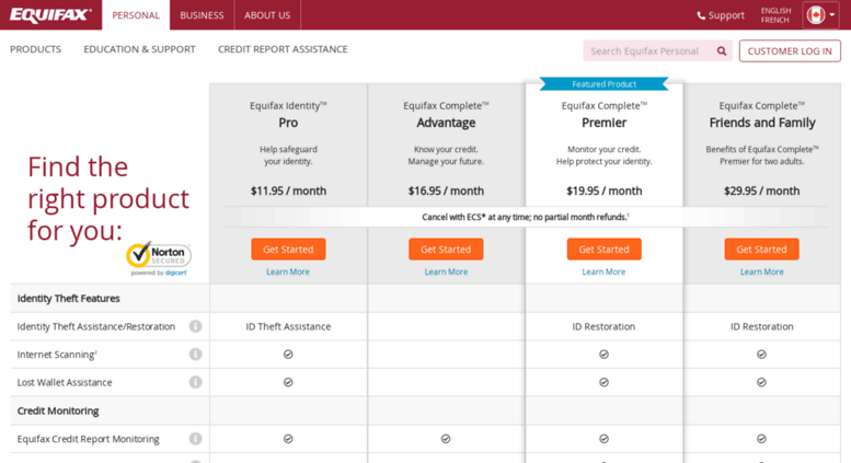 Equifax Credit Report >> Access Myservices Equifax Ca Credit Report Monitoring And