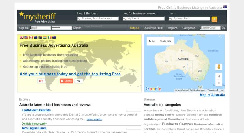Access mysheriffau com  Free Business Directory Australia | Free