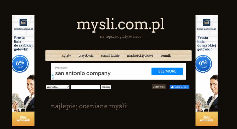 Access Myslicompl Cytaty Sennik Aforyzmy Przysłowia