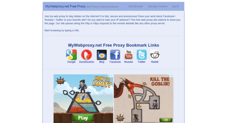 Access mywebproxy net  Free Web Proxy USA for Browsing or