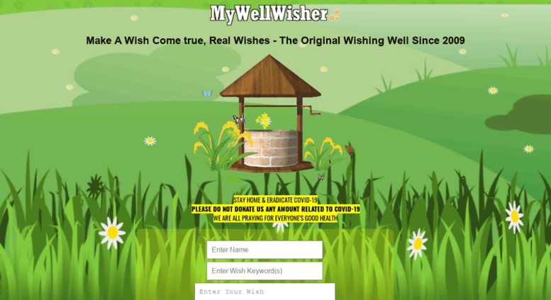 Access mywellwisher com  Make Your Wish online, Real wishes