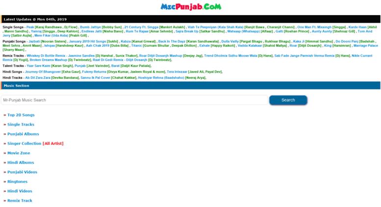 Access mzcpunjab com  MzcPunjab Com Latest Punjabi Hindi Mp3