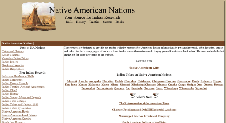 Access nanations com  Native American Nations