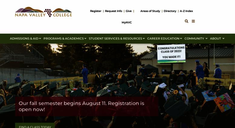 Access Napavalley Edu Napa Valley College Pages Napa Valley