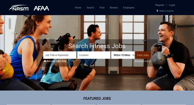 Access nasmfitjobs com  NASM Job Board