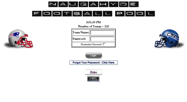 Access naugahyde ca  Naugahyde Football Pool - Login