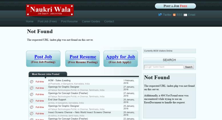 Access naukriwala com  Naukri Search, Job in India, Post