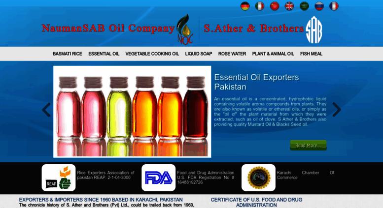 Access naumansab com  Basmati Rice Exporters | Essential Oils