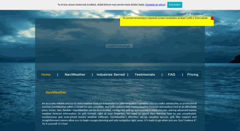 Access naviweather eu  NaviWeather - GRIB files with wind