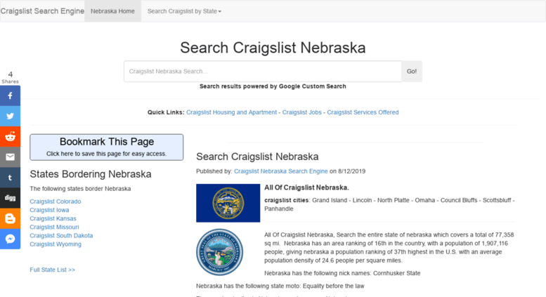 Craigslist Search By State