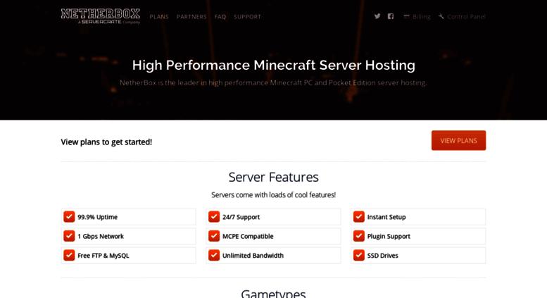 Access netherbox com  Minecraft Server Hosting | NetherBox