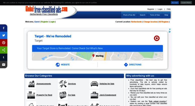 Access netherlands global-free-classified-ads com  Free classifieds