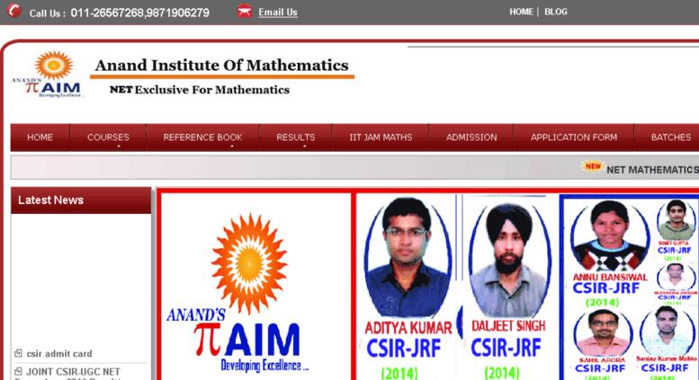 Access netmaths anandinstitute org  Best Institute for CSIR
