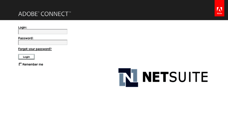 Access netsuite adobeconnect com  Adobe Connect Central Login