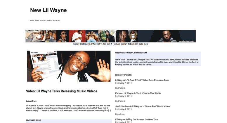 Access newlilwayne com  New Lil Wayne songs, news, pictures