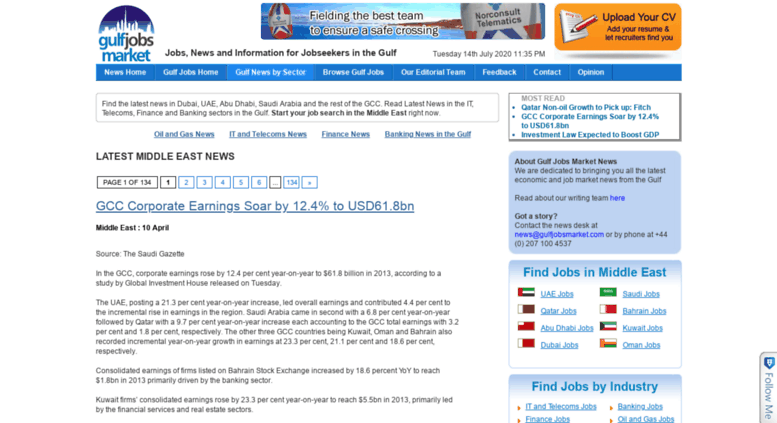 Access news gulfjobsmarket com  News In The Gulf, Middle