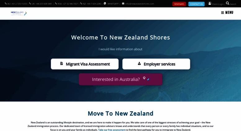 Access newzealandshores com  New Zealand Shores - Licensed