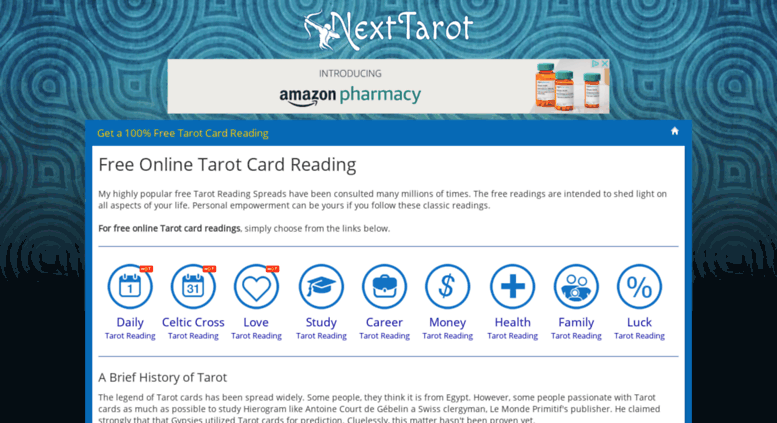 Access nexttarot com  Get a Free Online Tarot Card Reading