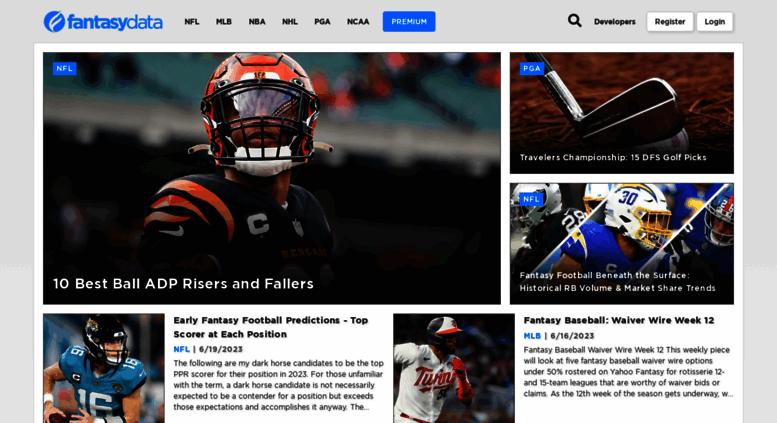 Access nfldata com  Live Sports Data API   NFL Fantasy