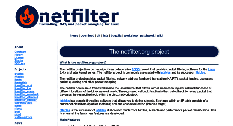 Access nftables org  netfilter/iptables project homepage