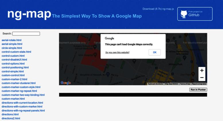 Access ngmap github io  AngularJS Google Maps V3 Directives