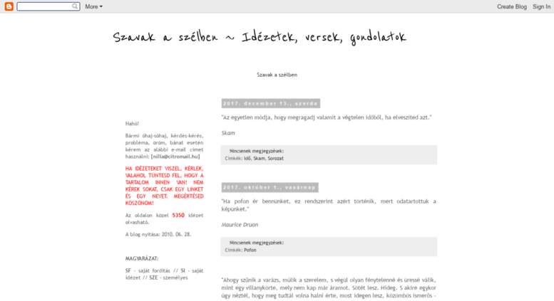 idézetek blogspot Access nilla literature..hu. Szavak a szélben ~ Idézetek