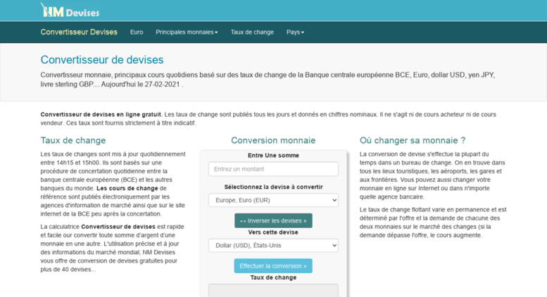 Access Nm Devises Com Convertisseur De Devises Taux De Change