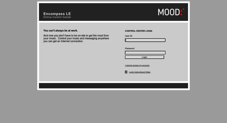 Access noccontrol muzak com  Encompass LE - Online Control