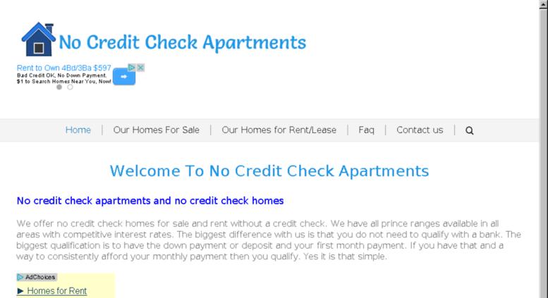 Access nocreditcheckhomesdfw com  No Credit Check Apartments