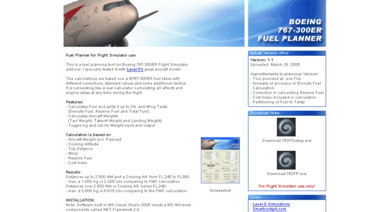 Access nofuel thatssailing com  BOEING 767-300ER Fuel Planner