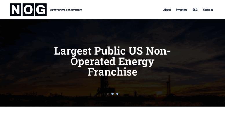 Access northernoil com  Northern Oil & Gas - A Williston Basin Non