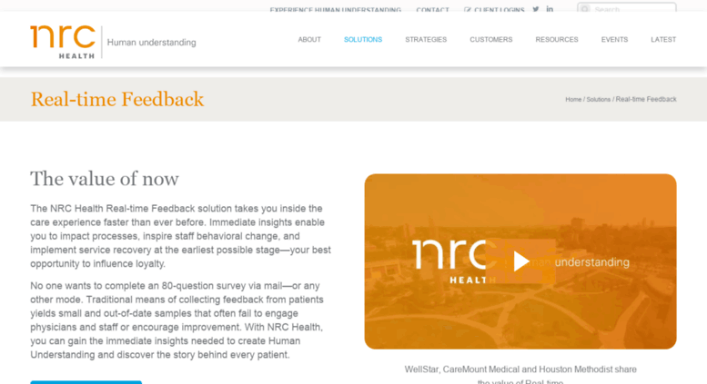 Access Nrcconnect Nationalresearch Com Real Time Feedback Nrc Health