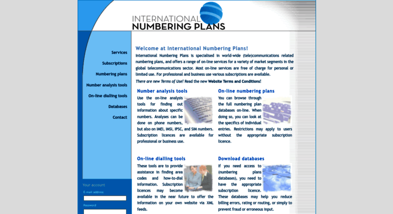 Access numberingplans com  International Numbering Plans, © 2001-2019