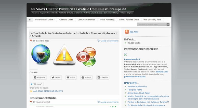 Access Nuoviclienti Wordpress Com Nuovi Clienti Pubblicità