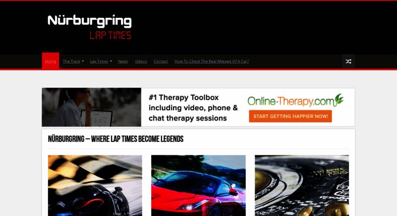 Access nurburgringlaptimes com  Home - Nürburgring Lap Times
