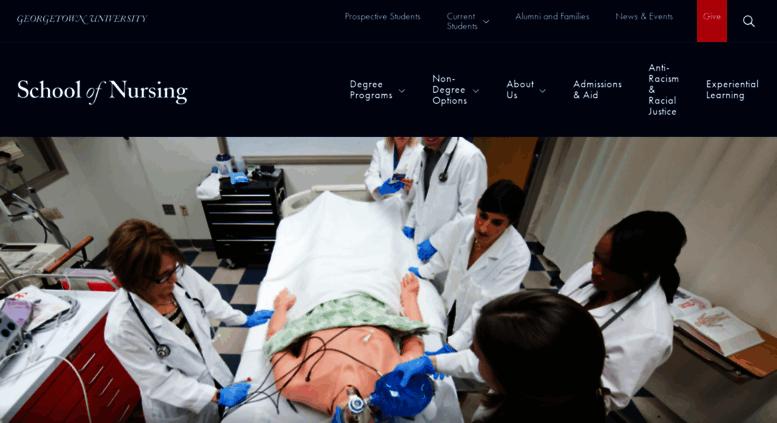 Access Nursing Georgetown Edu Georgetown Nursing School Of