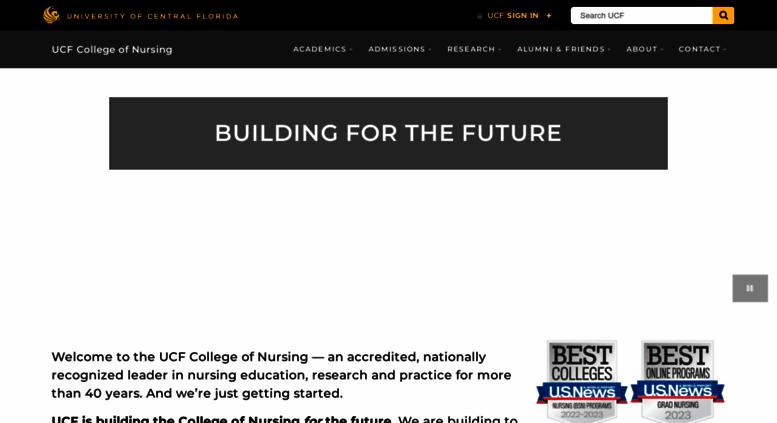 Ucf College Of Nursing >> Access Nursing Ucf Edu University Of Central Florida