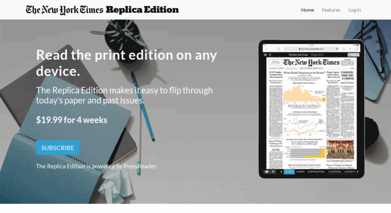 Image result for new york times replica edition