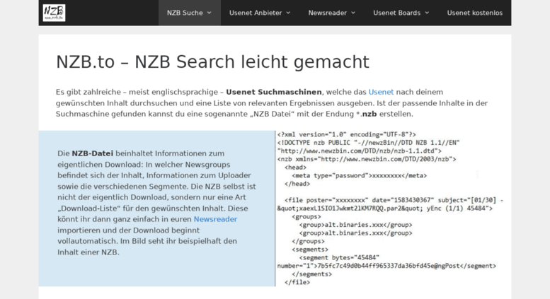 Access nzb to  NZB to: Usenet Suche leicht gemacht