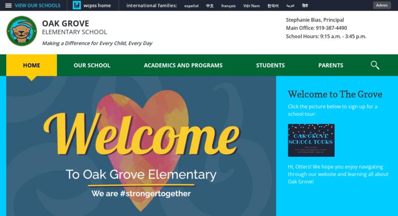 Access oakgrovees wcpss net  Oak Grove Elementary / Homepage