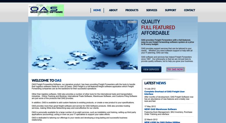 Access oastrade com  OAS Freight Forwarding Software  Your
