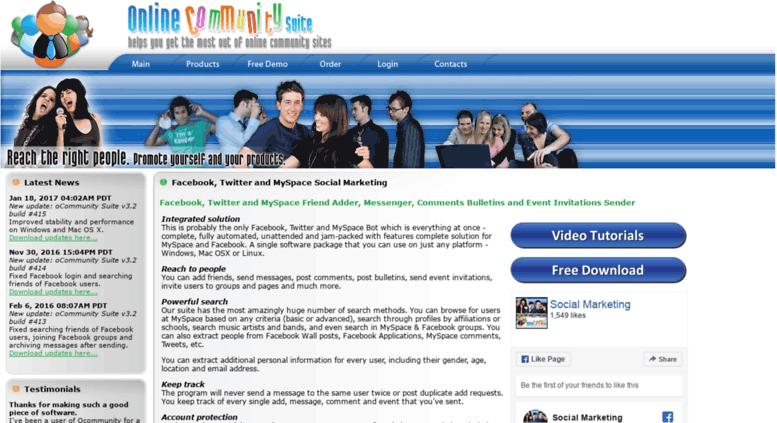 Access ocommunity net  Facebook, Twitter, MySpace - Friend