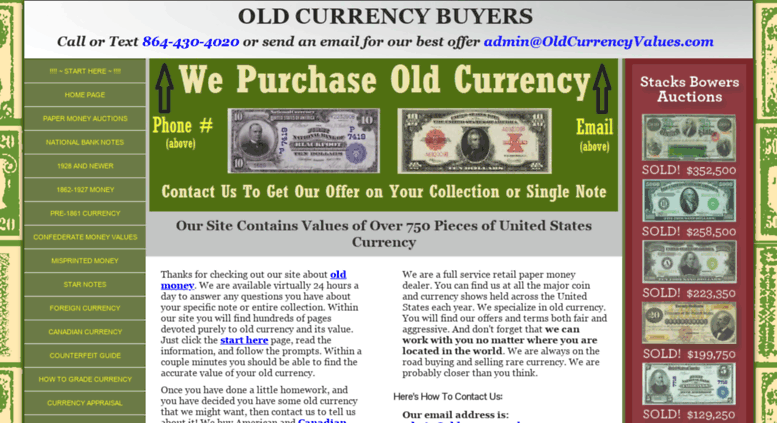 Access oldcurrencyvalues com  Old Currency Value Guide